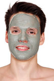 Mask on face Royalty Free Stock Photos