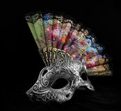 Mask with fan. Stock Images
