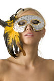 The mask and feather Stock Image