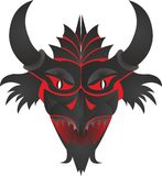 Mask feature with horns vector illustration