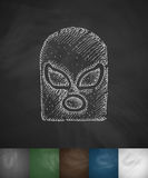 Mask fighter icon. Hand drawn vector illustration Royalty Free Stock Photos