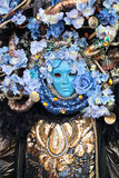 Mask with flowers at the Carnival of Venice Stock Photo