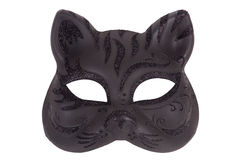 Mask in the form of the muzzle a cat on a white ba Royalty Free Stock Image