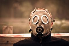Mask, Gas, Male, Man, Boy, Young Stock Image