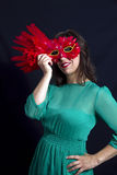 Mask girl Royalty Free Stock Photos