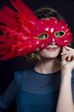 Mask girl Stock Photography