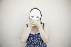 Mask Girl silence Stock Photos