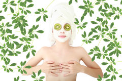 Mask green Royalty Free Stock Photo