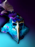 Mask horror long nose Venetian mask background carnival Stock Images