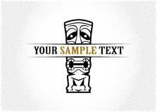 Mask icon. In  retro style Royalty Free Stock Images