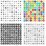 100 mask icons set variant. 100 mask icons set in 4 variant for any web design isolated on white vector illustration