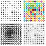 100 mask icons set vector variant. 100 mask icons set vector in 4 variant for any web design isolated on white Royalty Free Stock Image