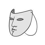 Mask illustration. Plain face mask illustration on white background Royalty Free Stock Photography