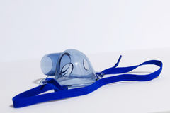 Mask for inhalation. Blue mask for inhalation on white background Royalty Free Stock Photo