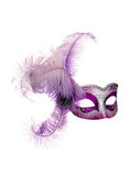 Mask isolated. Venetian carnival mask isolated on white Royalty Free Stock Images