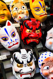 Mask japan. The old ones Royalty Free Stock Photo