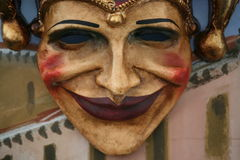 Mask:joker. Venice carnival mask looking like a joker Royalty Free Stock Images