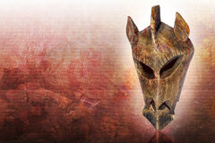 Mask from kenya. With grunge background Royalty Free Stock Photography