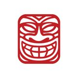Mask Logo Inspiration for traveling agencies, tropical bar, tribe modern culture business. This is logo inspiration yet suitable for company that running in Royalty Free Stock Photography