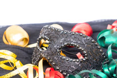 Mask with masquerade decorations Stock Photography