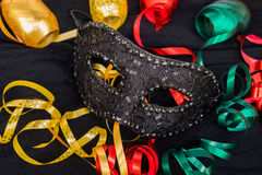 Mask with masquerade decorations Stock Photos