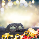 Mask with masquerade decorations Royalty Free Stock Images