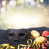 Mask with masquerade decorations Stock Images