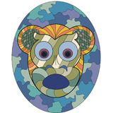 Mask of monkey fear Royalty Free Stock Photography