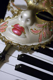 Mask and Music Stock Photo