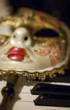 Mask and Music Royalty Free Stock Photography