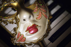 Mask and Music Royalty Free Stock Photos