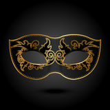 Mask. Mystery -  background with ornate mask Royalty Free Stock Photos