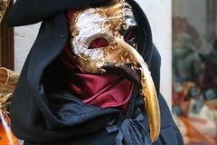Mask Of Carnival Of Venice Stock Photography