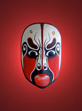 Mask Of Chinese Opera With Red Background