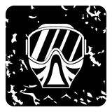 Mask for paintball icon, grunge style Stock Photos
