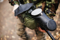 Mask for paintball. A lot of Stock Images