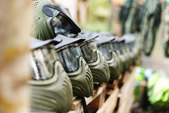Mask for paintball Stock Photo