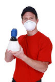 Mask with a paintsprayer Royalty Free Stock Photography