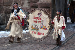 Mask parade in Freiburg, Germany Royalty Free Stock Photo