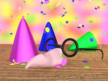 Mask and party hats Royalty Free Stock Images