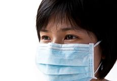Mask the patient& x27;s mouth stock photo