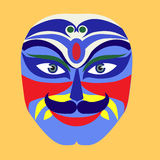 Mask of Peking opera drama vector illustration