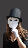 Mask on the person. On theatrical representation Royalty Free Stock Images