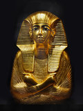 Mask of Pharaoh. Magnificent international exhibition - Tutankhamun and his treasures in Prague stock image