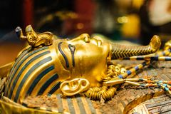 Mask of pharaoh Tutankhamun Stock Photography