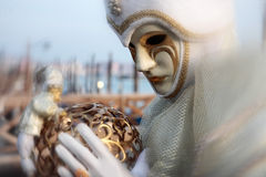 Mask portrait  carnival of venice italy Stock Photos