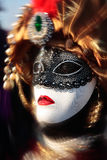Mask portrait  carnival of venice italy Royalty Free Stock Images