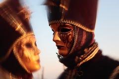 Mask portrait  carnival of venice italy Royalty Free Stock Photo