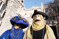 Mask portrait  carnival of venice italy Stock Images