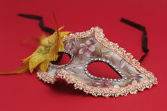 Mask for Purim celebration jewish carnival holiday and glitter background. se. Purim celebration concept jewish carnival holiday. selective focusnn Royalty Free Stock Images